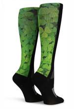 Black OTC Clover Feild Comfortable Cute Funny Unique Socks