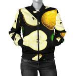 Pear Pattern In Black 3D Printed Unisex Jacket