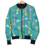 Archery Pattern Blue 3D Printed Unisex Jacket