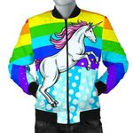 Pink Unicorn Rainbow 3D Printed Unisex Jacket