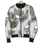 Tropical Pineapple Skull Pattern 3D Printed Unisex Jacket