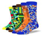 Men's Funny Unique Sock Bundle Comfortable Funny Cute Unique Socks