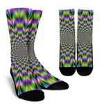 Neon Psychedelic Optical Illusion Unisex Crew Socks
