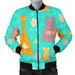 Yoga Animal Meditation Pattern  3D Printed Unisex Jacket