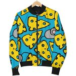 Cheese Mouse Cartoon Pattern 3D Printed Unisex Jacket