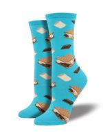 "Women's ""Want S'more?"" Socks Comfortable Funny Cute Unique Socks"