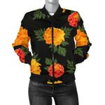 Yellow Marigold Pattern 3D Printed Unisex Jacket