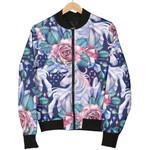 Blue Fairy Rose Unicorn Pattern  3D Printed Unisex Jacket