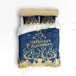 Christmas Deer Horn Printed Bedding Set Bedroom Decor