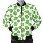 Hop Pattern Background 3D Printed Unisex Jacket