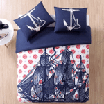 Nautical Sail Ship 3D Bedding Set Bedroom Decor