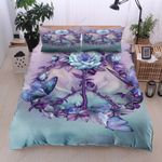 Purple Rose Peace Sign Shaped Bedding Set Bedroom Decor