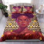 Black Girl With Sunflower 3D Bedding Set Bedroom Decor