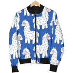 Alpaca Print Pattern 3D Printed Unisex Jacket