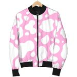 White And Pink Cow 3D Printed Unisex Jacket