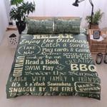 Camper Rules  Printed Bedding Set Bedroom Decor