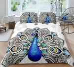 Peacock Mandala Design Printed Bedding Set Bedroom Decor