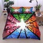 Color Tree In Color Forest Bedding Set Bedroom Decor