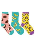 "Kid's ""Spunky Monkey"" 3-Pack Socks Lovely Birthday Gift Comfortable Unique Socks"