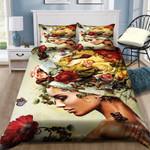 Yellow Flower Woman Bedding Set Bedroom Decor