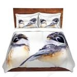 Two Chickadees Oil Painting Bedding Set Bedroom Decor
