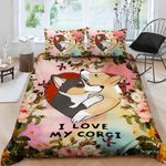 I Love My Corgi Bedding Set Bedroom Decor