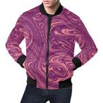Red Marble Pattern 3D Printed Unisex Jacket