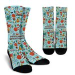 Collection Of Physical Education Teacher Printed Crew Socks