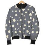 White Star Grey Pattern 3D Printed Unisex Jacket