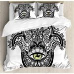 Evil Eye Mandala Pattern Bedding Set Bedroom Decor