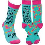 """""""I Wore My Big Girl Socks Today"""" Socks Lovely Birthday Gift For Men Women Comfortable Unique Socks"""