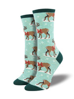 "Women's ""Winter Reindeer"" Socks Comfortable Funny Cute Unique Socks"