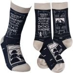 Not Drinking Alone if your Dog is Home Socks Comfortable Cute Funny Unique Unisex Socks