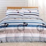 Nautical Anchor Blue Stripes  Bedding Set Bedroom Decor