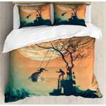 Spooky Night Full Moon Printed Bedding Set Bedroom Decor