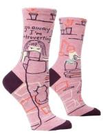 Go Away I'm Introverting Crew Socks Birthday Gift Ideas For Men Women Funny Comfortable Cute Unique Socks