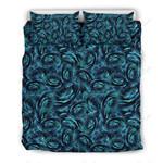 Camellia Funny Blue Pattern Printed Bedding Set Bedroom Decor