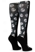 Black Tiny Skulls Comfortable Cute Funny Unique Unisex Socks