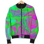 Neon Green Pink Psychedelic Trippy 3D Printed Unisex Jacket