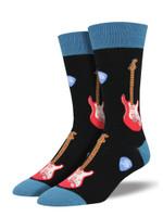 "Men's ""Electric Guitars"" Socks Comfortable Funny Cute Unique Socks"