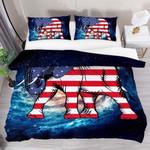 Elephant Usa Flag 3D Bedding Set Bedroom Decor