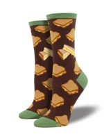 """Women's """"Grilled Cheese"""" Socks Comfortable Funny Cute Unique Socks"""