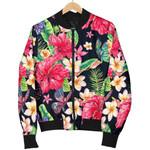 Exotic Hibiscus Flowers Pattern 3D Printed Unisex Jacket