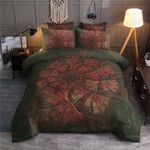 Poinsettia Red And Black Bedding Set Bedroom Decor