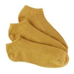 Bamboo 3 Pack (Mustard Yellow) Peds / No Show Socks