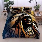 Native Americ Red Skin Human Printed Bedding Set Bedroom Decor