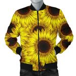 Sunflower Pattern Over 3D Printed Unisex Jacket