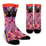 Colorful Sphynx Cat Printed Crew Socks