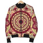 Sangria Mandala Bohemian Pattern  3D Printed Unisex Jacket