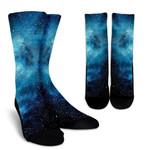 Blue Sky Universe Galaxy Space Print Unisex Crew Socks